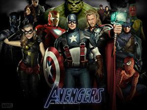 Фотографии Мстители (фильм, 2012) Капитан Америка герой Крис Эванс Фильмы