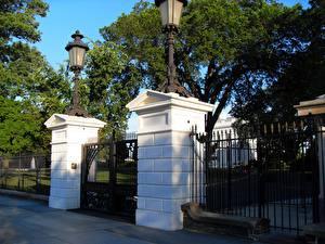 Обои Штаты Вашингтон город Ворота White House Front Gate Города