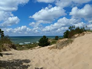 Фото Озеро Штаты Мичиган Природа