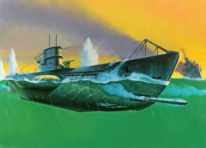Обои Подводные лодки Армия