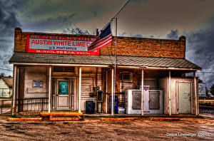 Картинки США Техас Остин TX Post Office Города