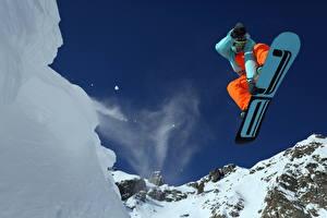 Обои Лыжный спорт Сноуборд