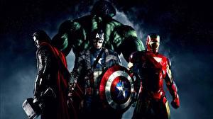 Фото Мстители (фильм, 2012) Капитан Америка герой Тор герой Железный человек герой Халк герой Фильмы