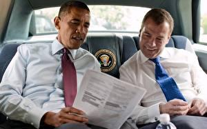 Картинки Дмитрий Медведев Барак Хуссейн Обама Президент Президенты России и США Знаменитости