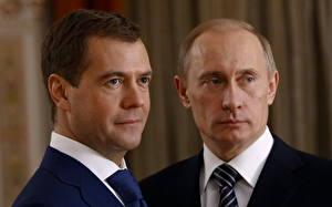Картинки Дмитрий Медведев Владимир Путин Президент Знаменитости