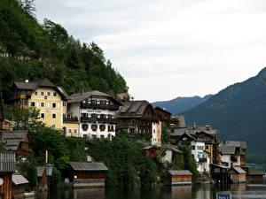 Фотографии Австрия Халльштатт Облака Города