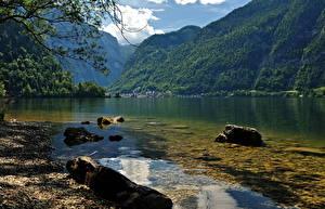 Обои Озеро Австрия Халльштатт Природа
