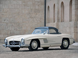 Обои Mercedes-Benz Родстер 300SL Roadster US spec [R198] 1957–63
