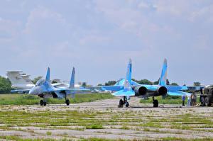 Фото Самолеты Истребители Су-27