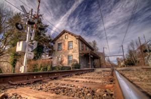 Обои Железные дороги Рельсах Norristown, PA