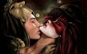 Фотографии Любовь Влюбленные пары Фантастика