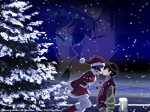 Фотография Ai Yori Aoshi Рождество Парни Девушки