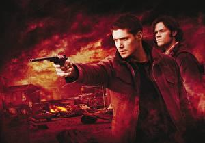 Картинки Сверхъестественное Jensen Ackles Куртки Фильмы