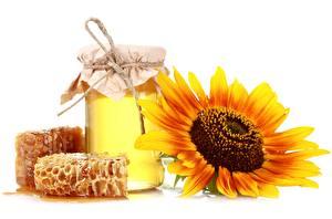 Картинка Сладости Мед Пчелиные соты соты Продукты питания