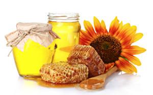 Фотография Сладкая еда Мед Пчелиные соты Продукты питания