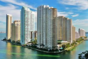 Обои США Майами Brickell Key Города фото