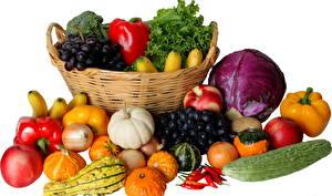Фотографии Овощи Корзинка Еда