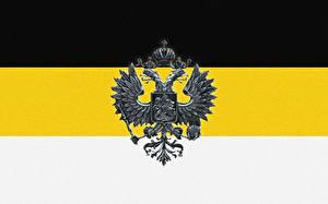Фото Россия Герб Националисты Двуглавый орёл Флаг