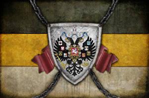Фотография Россия Герб Националисты Двуглавый орёл Флаг