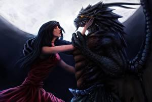 Картинки Любовь Драконы Фэнтези