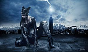 Обои Женщина-кошка Женщина-кошка герой Фильмы