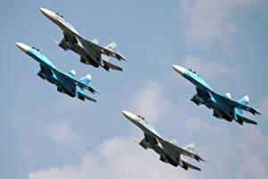 Фотография Самолеты Истребители Су-27 Авиация