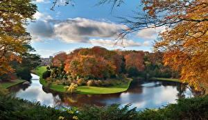 Фотографии Парки Река Англия Северный Йоркшир Природа
