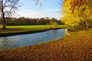 Обои Реки Германия Мюнхен Природа
