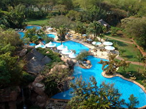 Фотография Курорты Африка ЮАР Бассейны Sun City Города