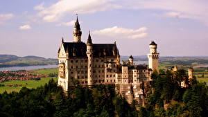 Обои Замки Германия Небо Нойшванштайн