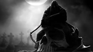 Фото Готические Черепа Смерть Коса (оружие)