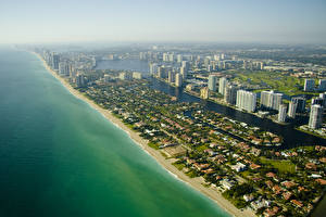 Обои США Побережье Флорида Майами Природа фото