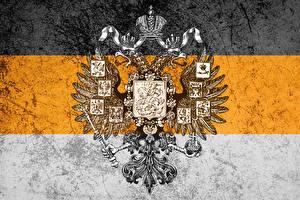 Картинки Россия Герб Националисты Двуглавый орёл Флаг