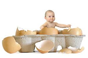 Фото Младенцы Смотрят Яйцами Ребёнок