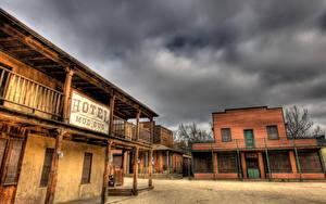 Фото Америка Дома Старый HDR Калифорнии Малибу Города