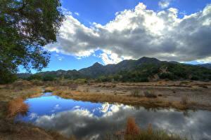 Фотографии Горы Штаты Небо Облака HDR Калифорния Малибу Природа