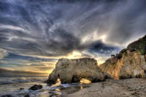 Обои Побережье США Небо Облако HDR Калифорнии Малибу Природа