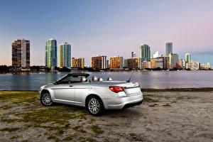 Картинка Chrysler Фары Серебряный Сзади 2011 200 convertible Автомобили Города