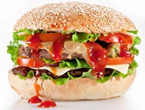 Фото Гамбургер Фастфуд Кетчуп Пища