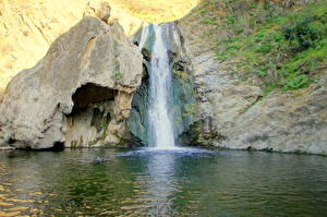 Обои Водопады США Калифорния Малибу Природа фото