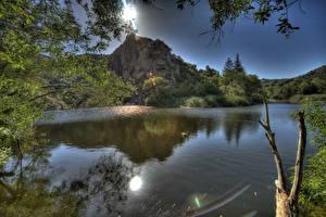 Картинки Речка США HDRI Калифорнии Малибу Природа