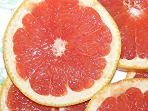 Фотография Фрукты Цитрусовые Грейпфрут Еда