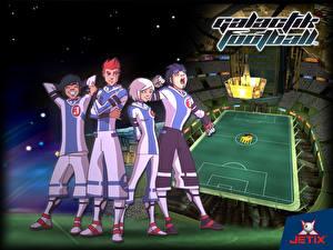 Обои Галактический футбол Мультики