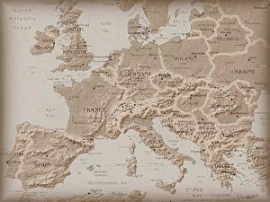 Фото География Географическая карта Европа