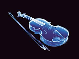 Обои Музыкальные инструменты Скрипка Черный фон