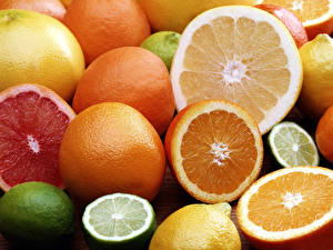 Фотографии Фрукты Цитрусовые Апельсин Пища