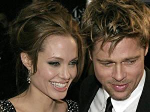 Картинка Angelina Jolie Brad Pitt