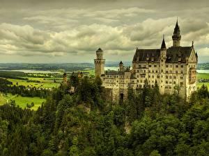 Фото Замки Германия Нойшванштайн