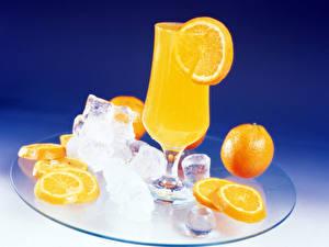 Фотография Фрукты Напитки Цитрусовые Сок Апельсин Продукты питания