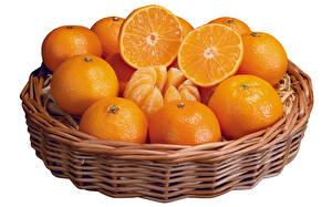 Картинки Фрукты Цитрусовые Апельсин Белый фон